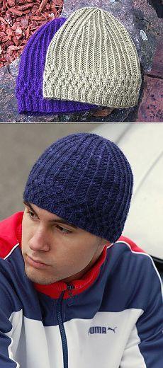 Универсальная шапка спицами: для женщин и мужчин.