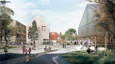 Gustavsberg city centre strategic redevelopment masterplan by C.F. Møller Architects and Tredje Natur.