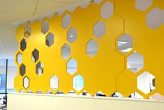 A new project using the Hiberform Hex-Acoustic panelling system, designed by Leo Scarff