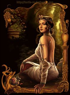 """Hero"" was Aphrodite's priestess on Sestos.  She and Leandros were famous lovers in Greek mythology. By Idunn"