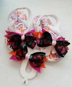 7ac0f06700c5b1 butterfly flip flop set with hairbow size 7 by LindsaybugBowtique