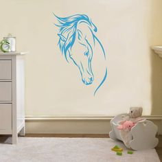Noble Horse Decal Wall Sticker Art Home Decor Any Color Stencil Animals Sst011 | eBay
