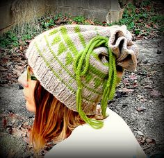 Knit hat dread hat wool beanie dread by FruitofPhalanges on Etsy bc91b2f7ca62