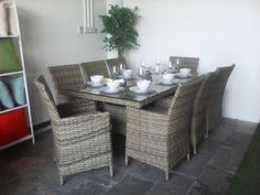 Al Fresco dining is ideal with #rattanfurniture #rattangardenfurniture #gardenfurniture #outsidefurniture in #Dubai! Visit Maze for the widest range, price guarantees and free delivery to your home or business.