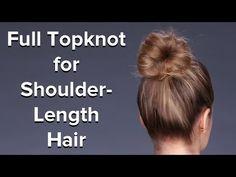 Fake a Thick Bun For Medium Length Hair! | Hair Tutorial | Beauty How To