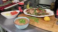 Mediterranean Night!! Grilled Pork Chops, Grilled Chicken Thighs marinated in Greek Yogurt, Homemade Tzatziki Sauce, Cajun Hummus!!  Thanks for watching, and please share!