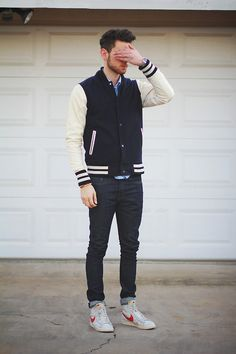 Edward Honaker #casual #men #fashion #mensfashion #guys #outfit #fashion #style #jacket #inspiration #varsity #urban #nike