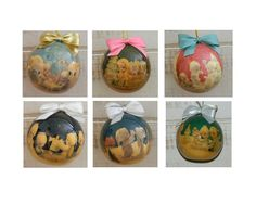 Vintage Precious Moments Ball Ornaments  By Enesco by MemeresAttic