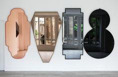 Labess Choukran Chkoun Yallah mirrors - Morocco Collection by Jose Levy - Model Home Interior Design Round Wall Mirror, Mirror Art, Diy Mirror, Wall Mirrors, Funky Mirrors, Mirror Shelves, Mirror Bedroom, Vintage Mirrors, Sunburst Mirror