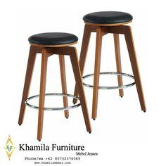 Kursi Mini Bar Jati 30 Bar Stools, Swivel Bar Stools, Counter Stools, Cafe Furniture, Decorative Storage, Bars For Home, Chrome Finish, Home Furnishings, Solid Wood
