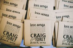 love song cd wedding favors; Awesome!!!!!