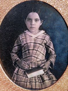 Circa 1840s Young Lady with Book