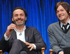 Norman Reedus and Andrew Lincoln at event of The Walking Dead