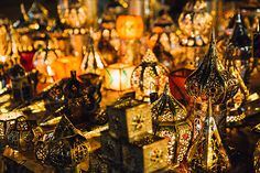 Colourful Traditional Lamps In Market At Night Traditional Lamps, Moroccan Lamp, The Unit, Stock Photos, Night, Painting, Color, Art, Brunettes
