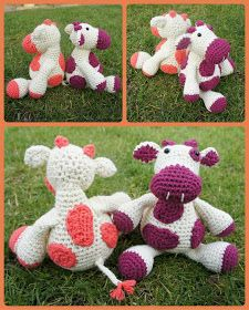A Bunch Of Buttons: Monty Moo Free crochet pattern cute cows!
