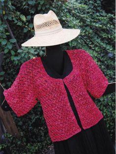 The Lightning Lace Jacket Knit Pattern-I really, really wish I could knit.