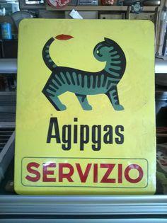 Agipgas Servizio Insegna In Lamiera Smaltata • EUR 260,00 - PicClick FR