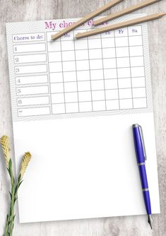 Enjoy your planning with this Timetable. Maybe it will become the best planner you've ever used. You can choose paper size: A4, A5, Letter or Half Letter. Or use it with Xodo, Notability, Noteshelf and Goodnotes for your iPad. #agenda #timetable #weekly #daily #blank Chore Chart Template, Timetable Template, Daily Schedule Template, Weekly Schedule, Planner Template, Best Planners, Teacher Planner, Household Chores, Travel Planner