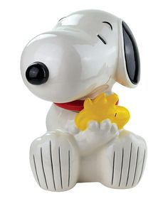 Look at this #zulilyfind! Snoopy & Woodstock Cookie Jar by Peanuts by Charles Schulz #zulilyfinds