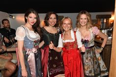 v.l. Sophie Wepper, Lola Paltinger, Maria Hauser, Monica Ivancan - www.stanglwirt-weisswurstparty.com Prom Dresses, Formal Dresses, Party, Actresses, Fashion, Celebrations, Dresses For Formal, Female Actresses, Moda