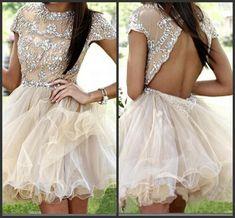 short prom dress,champagne prom dress,http://bridesmaiddress.storenvy.com/collections/1129503-short-prom-dresses/products/15568620-short-prom-dress-champagne-prom-dress-backless-prom-dress-cap-sleeve-prom-dr