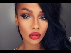 She (sonjdradeluxe) is absolutely amazing with her make-up but this look (as well as others) is stunning. I pinned this for the ombre lip. if you are on Youtube you should follow her.