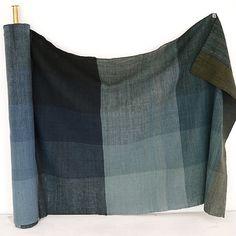 Nani IRO ONLINE STORE - × Taikokutan Ai | hand spun cloth navy blue block check