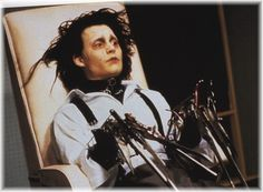 "Johnny Depp (Edward) in ""Edward Scissorhands"" >> :-) Style Tim Burton, Tim Burton Films, Anthony Michael Hall, Anthony William, Pulp Fiction, Catwoman, Fangirl Movie, Le Grinch, Phineas Et Ferb"