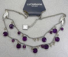 'Liz Claiborne Necklace' is going up for auction at  5pm Fri, Oct 5 with a starting bid of $5.