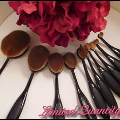 ‼️ LAST SET ‼️ Set of 10 Black Oval makeup brushes These brushes are made with synthetic materials, however, the brushes are super soft andgentleon face. Thehandles are verycomfortable to holdand easy to maneuver. These are Artis dupes.      Price too high? Purchase through Ⓜ️ercari to get free shipping AND get $2 when you first sign up & use invite code ‼️ TPXEWJ‼️ ✨Click on my website in my profile✨ (Let me know if the item is listed on here but not in Ⓜ️ercari) Makeup Brushes & Tools