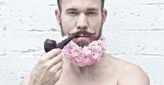 Let's speak in flowers #flowers #beard