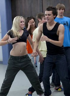 Alicia Banit (Kat Karamakov) and Tom Green (Sammy Lieberman)- Dance Academy