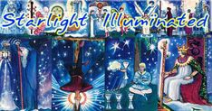 The Starlight Illuminated Tarot is a special version of the original illuminated Tarot deck, by Carol Herzer.