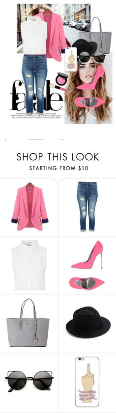 """""""fashion breath"""" by magkorex ❤ liked on Polyvore featuring J Brand, Glamorous, Casadei, Michael Kors, Eugenia Kim and Bobbi Brown Cosmetics"""