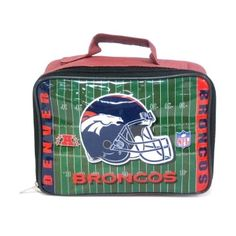 DENVER BRONCOS NFL Officially Licensed Football SOFT Lunch Box Lunch Bag by NFL. $8.99. BRAND NEW -  DENVER BRONCOS Officially Licensed Football SOFT Lunch Box Lunch Bag -Team logos and NFL logos on lunch box, Helmet & Field Vinyl Lunch Box, Elastic strap inside keeps your drink upright and in place, Easy to clean vinyl construction ... wipes off easily THIS IS AN OFFICIALLY LICENSED NFL SPORTS PRODUCT WITH A Strap Inside For Drink. Great Looking Lunch Bag for the Spe...