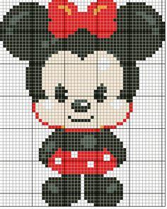 Minnie Mouse cross stitch. Disney cross stitch.