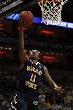 Murray State guard Donte Pool goes up for a layup against Marquette