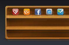 Wood Icon Shelf - FREE