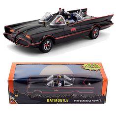Batman Classic Series Batmobile with Bendable Mini-Figures