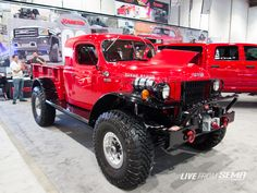 Legacy Classic Trucks had both a Power Wagon pickup and a panel wagon in the show this year.  The truck (seen here) was in the Rancho/Dynomax booth.  Legacy has made a name for themselves by retrofitting modern diesel drivetrains into classic trucks with show winning attention to detail.