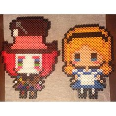 Alice in Wonderland perler beads by meganmorphine - Original ...