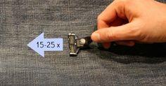 Lege die Jeans auf einen flachen Untergrund und schiebe deinen Rasierer ca. 15-20 mal über das Hosenbein. Wichtig ist hierbei, dass du die Klingen entgegen der Rasierrichtung schiebst. So schärfst du die Klingen und entfernst kleine Unreinheiten und Splitter. Sie werden wieder scharf und können weiter benutzt werden. Dieser Trick kann mit demselben Rasierkopf mehrfach wiederholt werden. Eine Klinge hält so leicht mehrere Monate.
