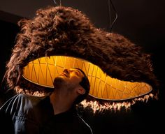dupaka lamp by great things to people  (hehe...kinda looks like a giant partially inhabitable mustache)