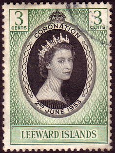 Leeward Islands Queen Elizabeth II 1953 Coronation Fine Used SG 125 Scott 132 Other West Indies and British Commonwealth Stamps HERE!