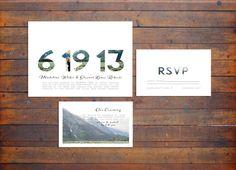 Modern / Minimal Photo Style Wedding Invitation. $160.00, via Etsy.