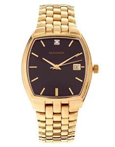 menswear gold (metal) watch. asos.