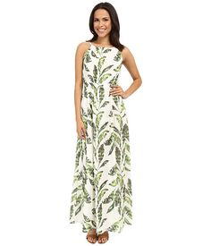 Tommy Bahama Watercolor Palmier Empire Gown