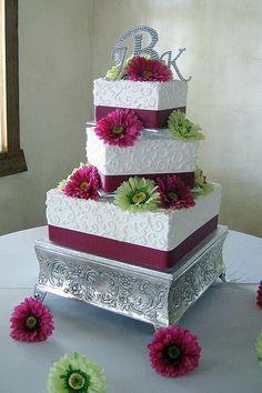 2011 Square Wedding Cakes Gallery