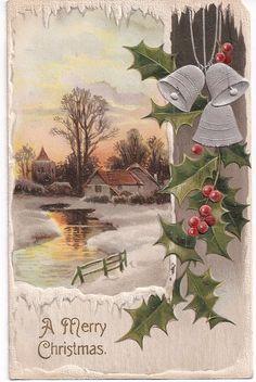 """A Merry Christmas"" antique postcard 1908 postmark"