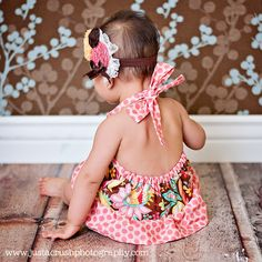 Girls Romper Pattern PDF Sewing Pattern by pinkpoodlebows on Etsy, $6.00